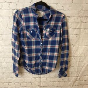 Abercrombie and Fitch plaid button up top